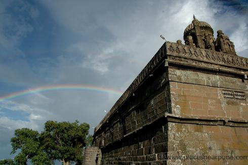 Bhuleshwar Shiva Temple in the monsoon season