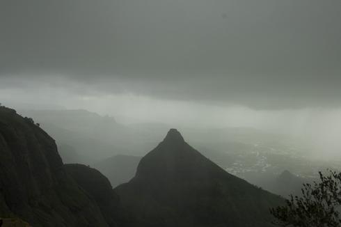 Shivling peak near lions point lonavala