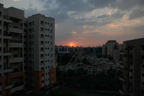 Sunset in Magarpatta city