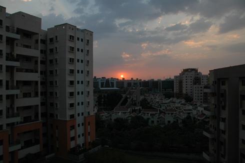 Sunset in Magarpatta city
