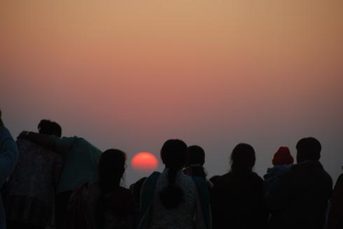 Sunset point in Mahabaleshwar