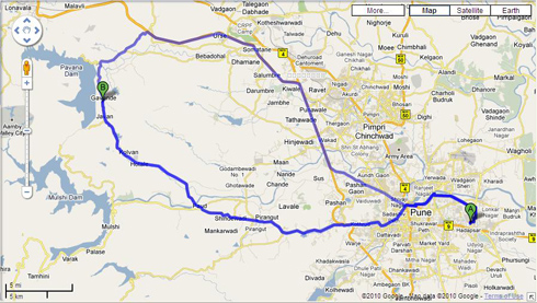 route to lohagad fort